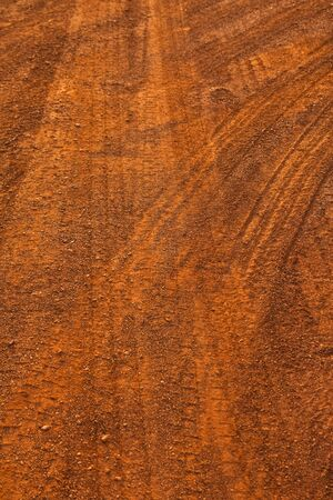 dirt road: Truck wheel print on upcountry road Stock Photo