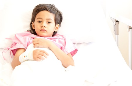 Young boy in hospital bed Stock Photo - 8020318