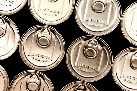 Lid of can with pulling ring photo