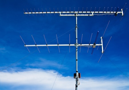 Old style television antenna photo