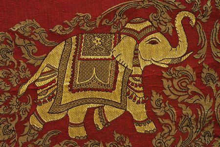 thailand fabrics: Native Thai style cloth pattern