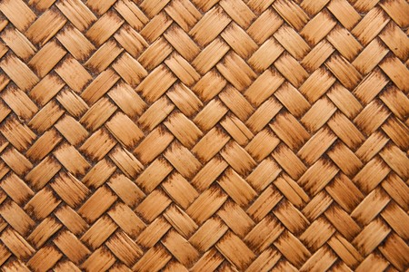 basketry: native Thai style bamboo weaving house wall