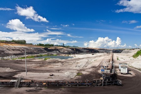 Lignite mine in northern Thailand Stock Photo - 7636163