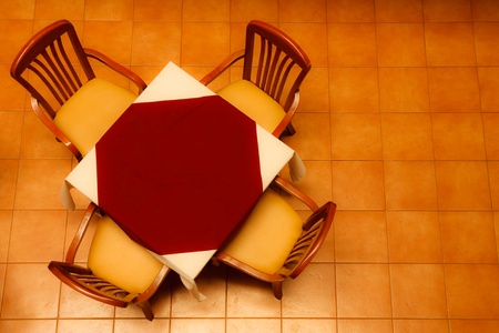 Table in restaurant photo