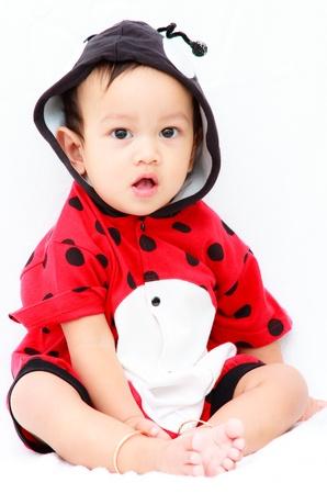 innocent: Ten month asian baby