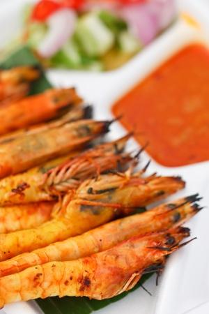 Prawn satay, Thai style food photo