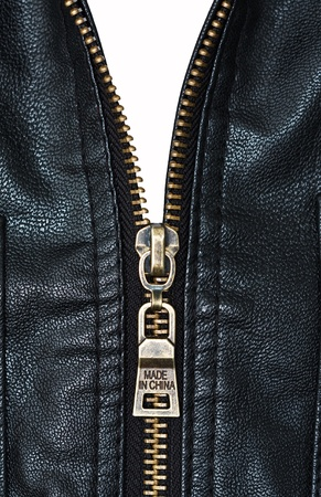 Metal zip with words  Stock Photo - 13063064