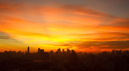 Sunrise at Bangkok, capital city of Thailand photo
