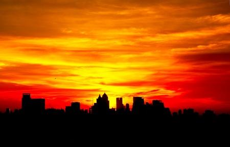 Sunrise at Bangkok, capital city of Thailand photo