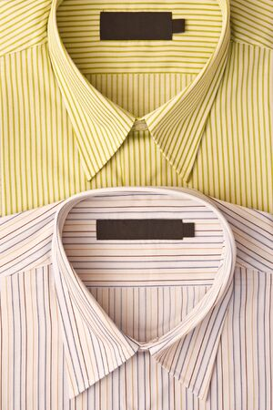 fabric label: Blank label and mens shirt