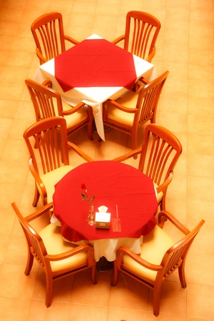 Tables in restaurant photo