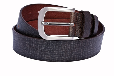 Mens leather belt photo