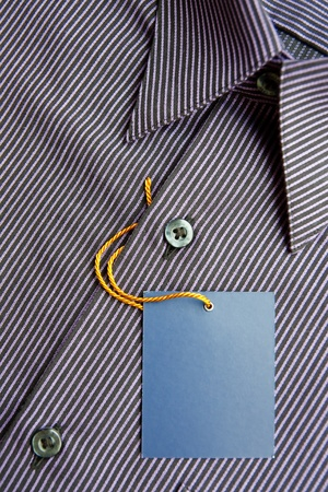 Blank label and men's shirt Stock Photo - 8461250