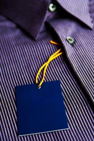 mens shirt: Blank label and mens shirt