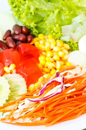 Colorful vegetables salad photo