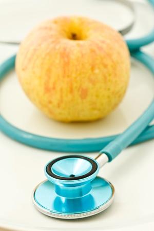 Stethoscope and apple photo