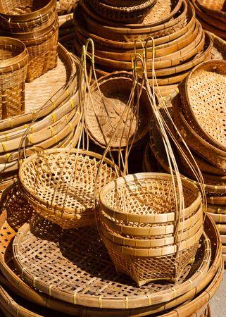 Native Thai style basketry photo