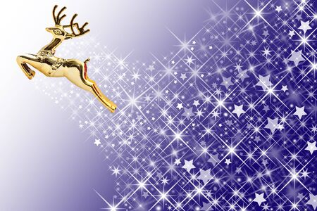 Golden deer and colorful background Stock Photo - 8444288