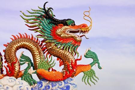 Dragon statue, taken in north of Thailand photo
