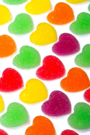Bright color sugar coated gummy photo
