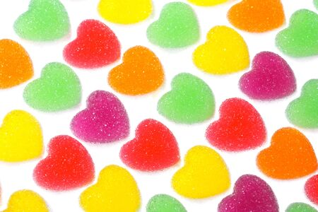 Bright color sugar coated jelly photo
