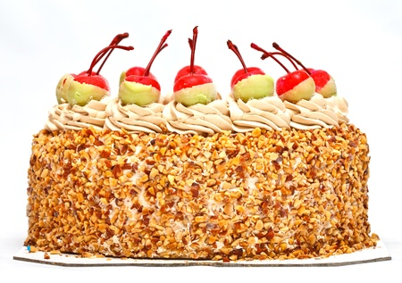 Cherries on top of cake photo