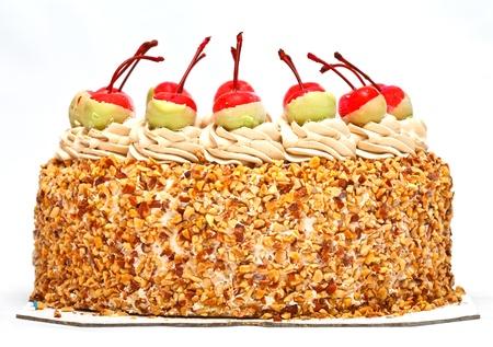 Cherries on top of cake photo