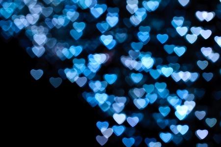 bokeh: Heart background, taken from night lights