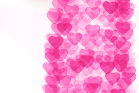 Heart background, taken from night lights photo