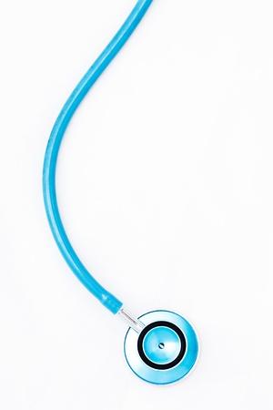 Stethoscope on white background photo