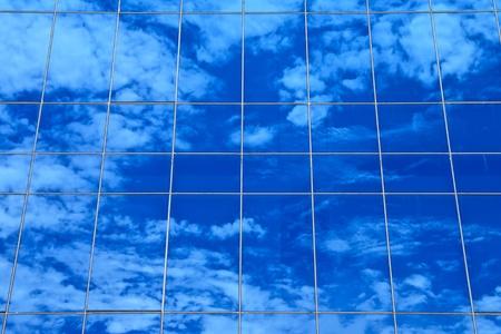 Sky reflection on office building Stock Photo - 10245437