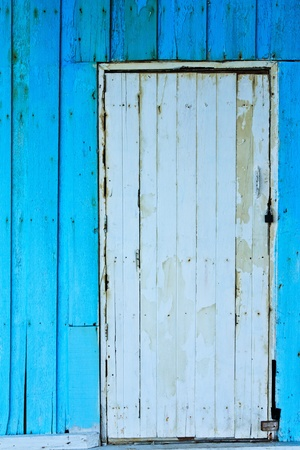 Bright color old wood door