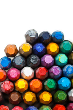 Stack of oil pastels photo