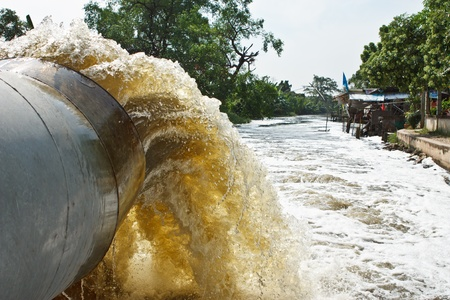 Drainage tube system Stock Photo