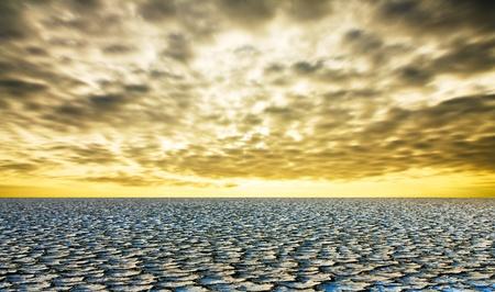 nieużytki: Arid ziemi i jasny kolor nieba