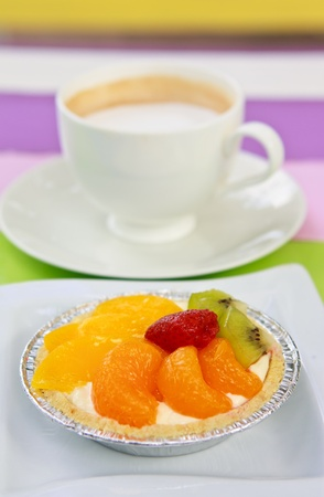 colorful mixed fruit pie photo