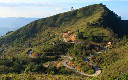 Road in mountain, north of Thailand