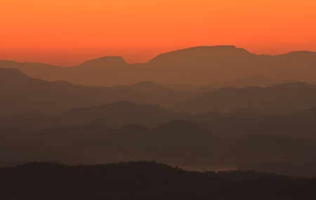 Mountain in northeast of Thailand at sunset photo