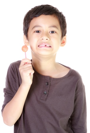 Boy and candy Stock Photo - 12392762