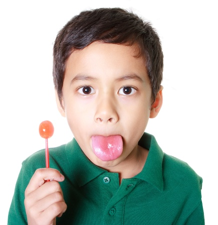 Boy and candy Stock Photo - 12392758