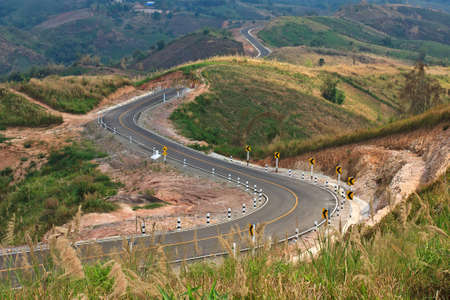 Road in countryside of tropical country photo
