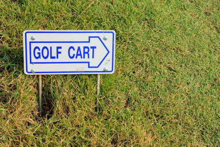 Golf cart direction label photo