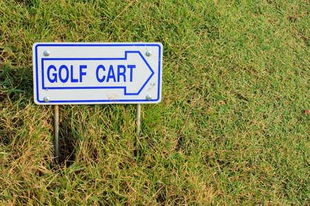 Golf cart direction label photo