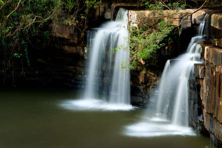 thialand: Waterfall in tropical forest, north of Thialand