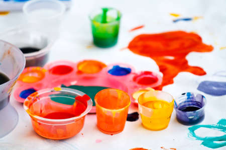 coloful: Coloful watercolors Stock Photo