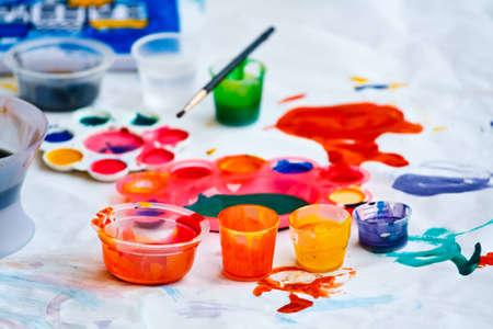 coloful: Coloful watercolors Stock Photo
