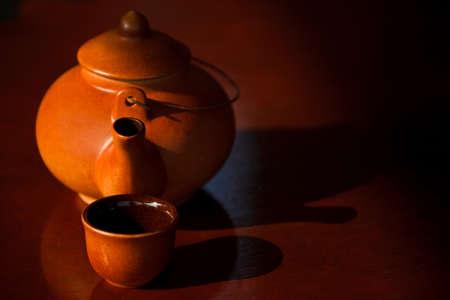 Ceramic tea set in Chinese style photo