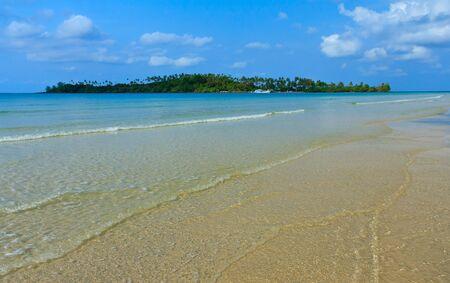 Beautiful view of Thai sea photo