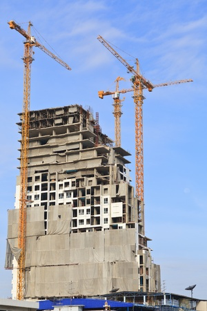 High building construction site in blue sky Stock Photo - 14034791