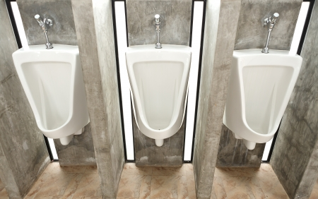 White ceramic sanitary ware in restroom photo